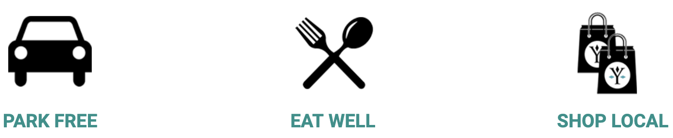 Park Free Eat Well Shop Local